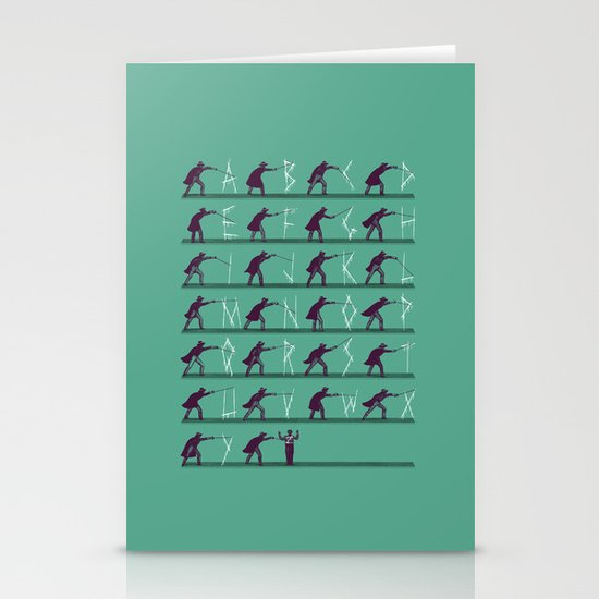 From A to Zorro Stationery Card