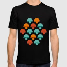 Don't eat the mushrooms! Black SMALL Mens Fitted Tee