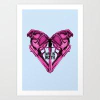 Love Is Death Heart Weap… Art Print