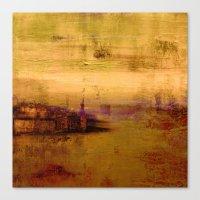 Golden Abstract Landscap… Canvas Print