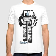 I nobot Mens Fitted Tee SMALL White