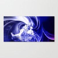 Blaue Lagune Canvas Print