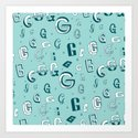 Letter Patterns, Part G Art Print