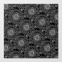 A Crowd of Mums (black | white) Canvas Print