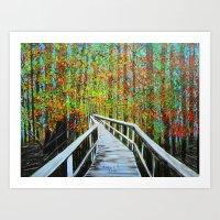 Walkway  In The Woods  Art Print