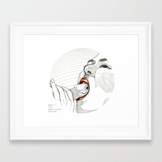 How deep is your love? Framed Art Print