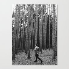 Running in the woods Canvas Print