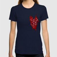 TMNT Rock: Raph Womens Fitted Tee Navy SMALL