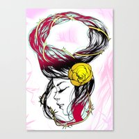 Rose Thorn Canvas Print
