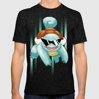 Squirtle Squad Mens Fitted Tee Tri-Black SMALL