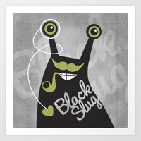 Black Slug Art Print