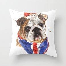 Thank you LONDON - British BULLDOG - Jubilee Art Throw Pillow