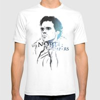 The North Remembers Mens Fitted Tee White SMALL