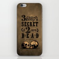 Benjamin Franklin Illustrated Quote iPhone & iPod Skin