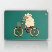 Lamb on the bike Laptop & iPad Skin