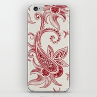 Paisley: Vintage RED  iPhone & iPod Skin