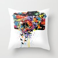 Paint DSLR Throw Pillow