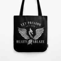 Let Passion Set Our Hear… Tote Bag