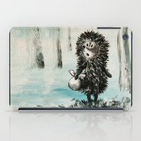 Hedgehog in the fog iPad Case