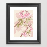 Flower Sketch Framed Art Print