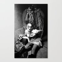 Nurse & Clowns Canvas Print