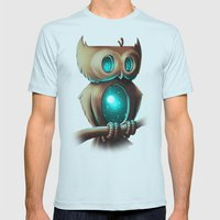 Night Owl Mens Fitted Tee Light Blue SMALL