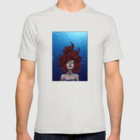 Tears Of A Mermaid Mens Fitted Tee Silver SMALL