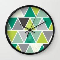 Triangulum - Emerald Wall Clock