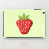 Pixel Strawberry iPad Case