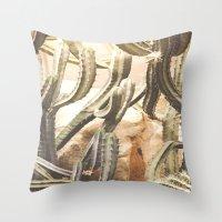 Cactus Jungle Throw Pillow