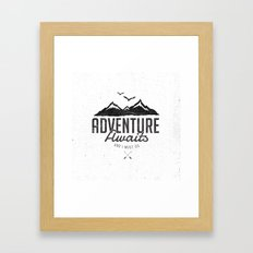 ADVENTURE AWAITS Framed Art Print