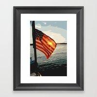 Patriot's Sunset Framed Art Print