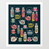 Vintage Thermos - Teacup… Art Print