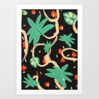 Jungle pattern Art Print