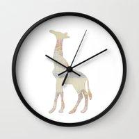 Pattern Giraffe  Wall Clock