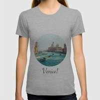 Venice! Womens Fitted Tee Athletic Grey SMALL