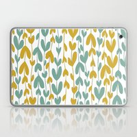 Yellow and Teal Leaves Laptop & iPad Skin