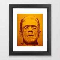 The Creature - Orange Framed Art Print