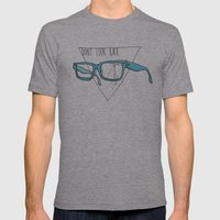 Don't Look Back Mens Fitted Tee Athletic Grey SMALL