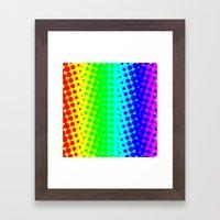 RAINBOW COLOR DOT Framed Art Print