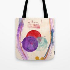Painting & Coldplay Tote Bag