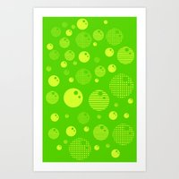 Bubblemagic - Lime Art Print