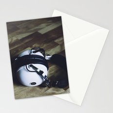vintage headphone Stationery Cards