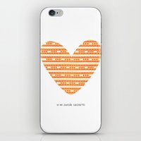 CORAZON (naranja) iPhone & iPod Skin