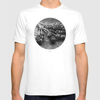 Lavender No. 2 (Black & … Mens Fitted Tee White SMALL