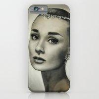 audrey hepburn iPhone & iPod Cases featuring Audrey Hepburn by Claire Lee Art