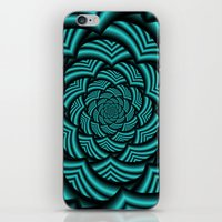 Curved Chevron Spiral In… iPhone & iPod Skin