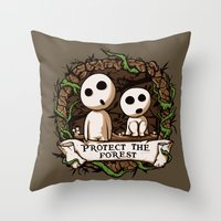 Save Kodamas V2 Throw Pillow