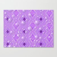 Purple Pattern Merry Chr… Canvas Print
