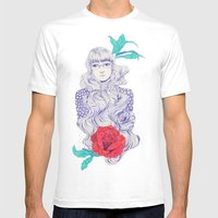 Flowery 02 Mens Fitted Tee White SMALL
